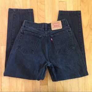 1990s black LEVIS high waisted mom jeans